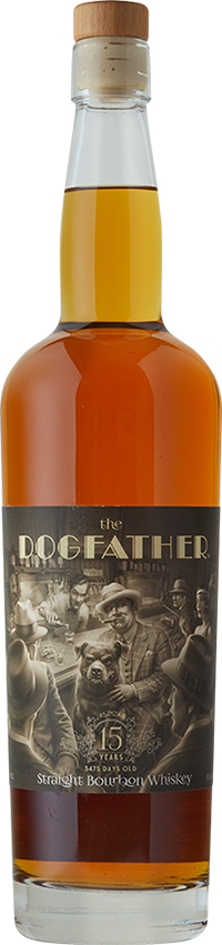 Lone Whisker The DogFather 15 Year Straight Bourbon Whiskey