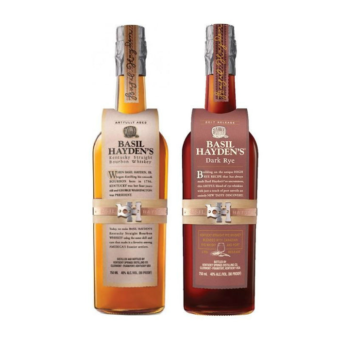 Basil Hayden Collection Straight Bourbon & Rye Whiskey
