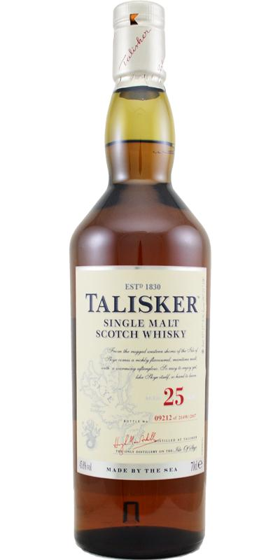 Talisker 25 Year Single Malt Scotch Whiskey
