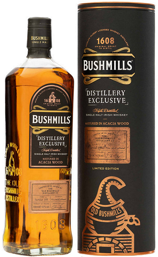 Bushmills Distillery Exclusive Matured in Acacia Wood Irish Whiskey