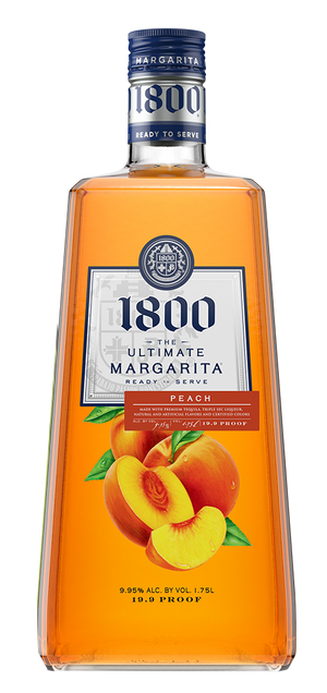 1800 The Ultimate Margarita Peach Liqueur - CaskCartel.com
