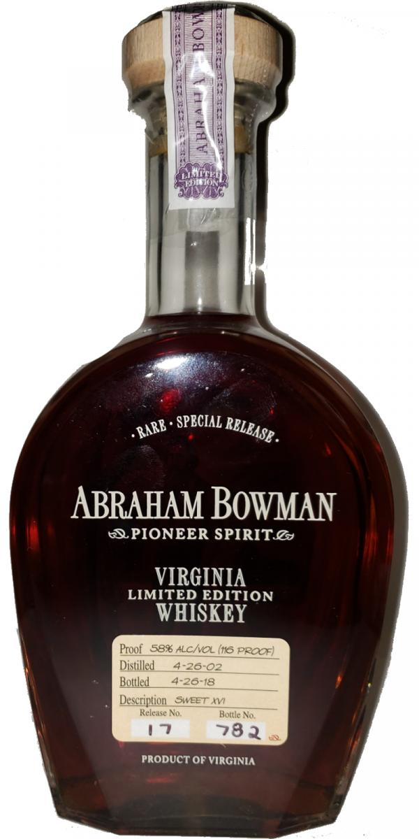 Abraham Bowman Limited Edition No 17 Whiskey