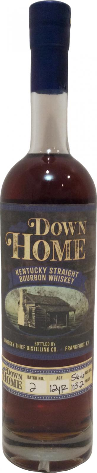 Down Home Bourbon 12 Year Batch #2 113.2 proof Kentucky Straight Bourbon Whiskey