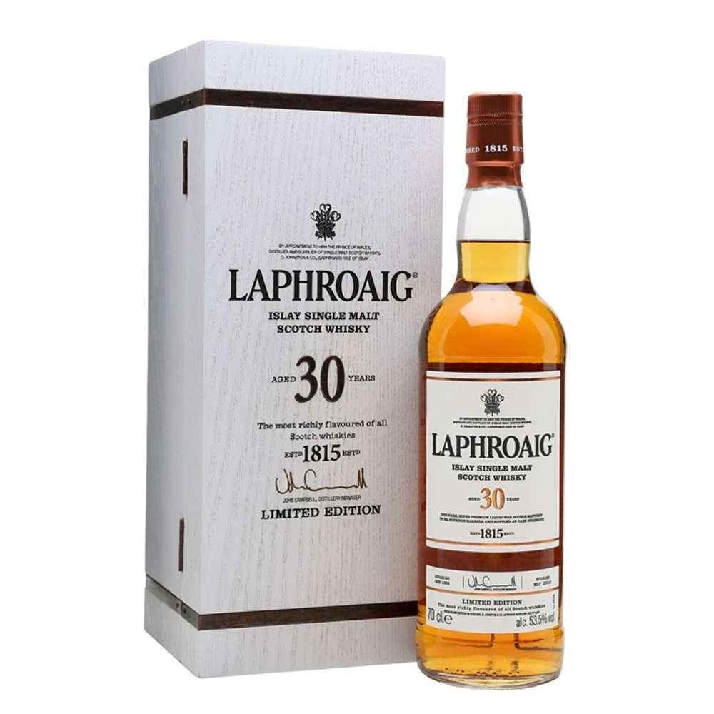 Laphroaig 30 Year Old Single Malt Scotch Limited Edition Whisky - CaskCartel.com