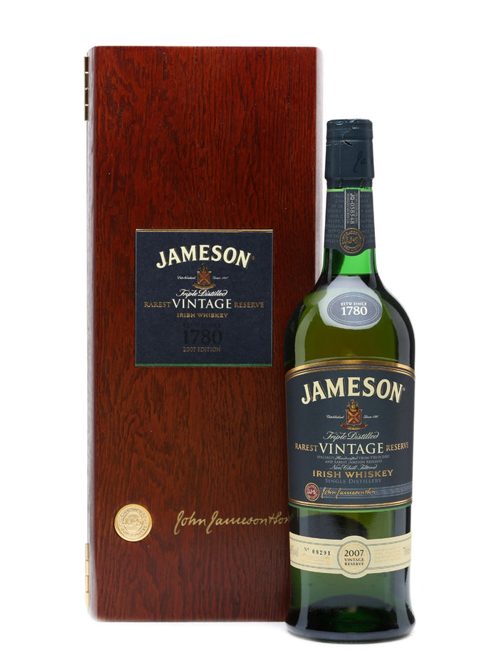 Jameson Rarest Vintage Reserve Irish Whiskey | Limited Edition Wood Grain Collectors Box