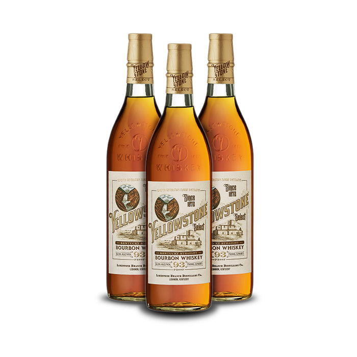 Yellowstone Select Bourbon (3) Bottle Bundle