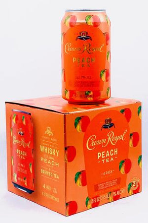 Crown Royal Peach Tea (4) Pack Cans at CaskCartel.com