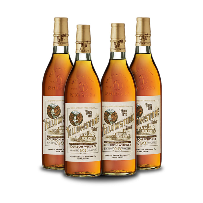 Yellowstone Select Bourbon (4) Bottle Bundle