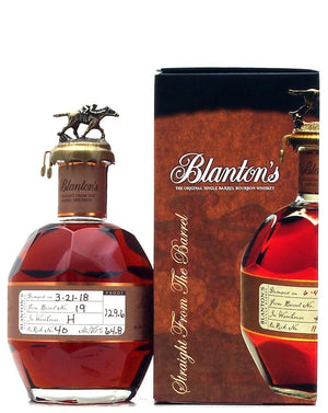 Blanton's Straight from the Barrel Dumped 2018 129.6 Proof Kentucky Straight Bourbon Whiskey 700ML at CaskCartel.com