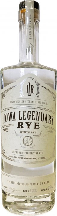 Iowa Legendary White Rye Whiskey (White)