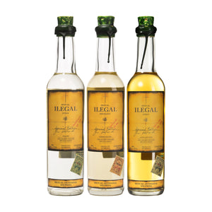 Ilegal Mezcal Set of 3 Bottles 375ml - CaskCartel.com