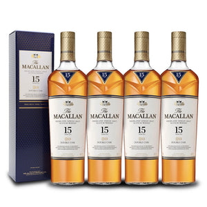 The Macallan Double Cask 15 Year Old (4) Bottle Bundle | Highland Single Malt Scotch Whisky at CaskCartel.com