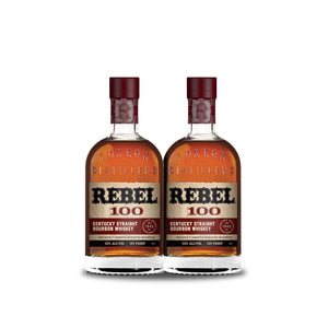 Rebel Bourbon 100 Proof Straight Bourbon Whiskey (2) Bottle Bundle at CaskCartel.com