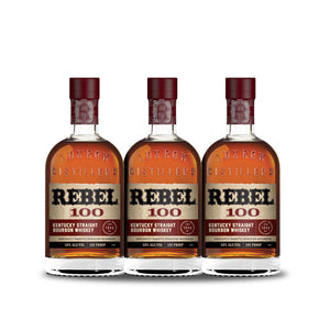 Rebel Bourbon 100 Proof Straight Bourbon Whiskey (3) Bottle Bundle at CaskCartel.com