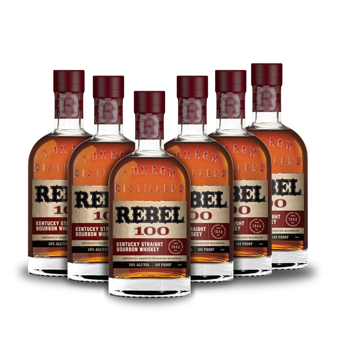 Rebel Bourbon 100 Proof Straight Bourbon Whiskey (6) Bottle Bundle