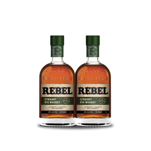 Rebel Straight Rye Whiskey (2) Bottle Bundle at CaskCartel.com
