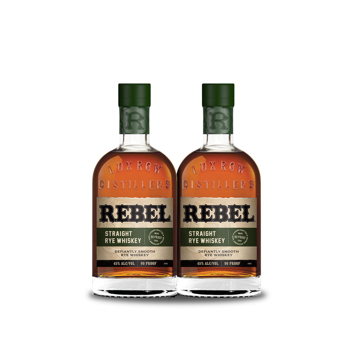 Rebel Straight Rye Whiskey (2) Bottle Bundle