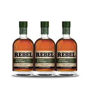 Rebel Straight Rye Whiskey (3) Bottle Bundle at CaskCartel.com