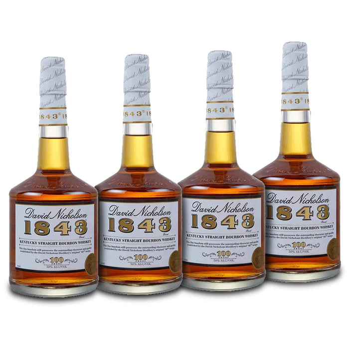 David Nicholson 1843 Bourbon Whiskey (4) Bottle Bundle