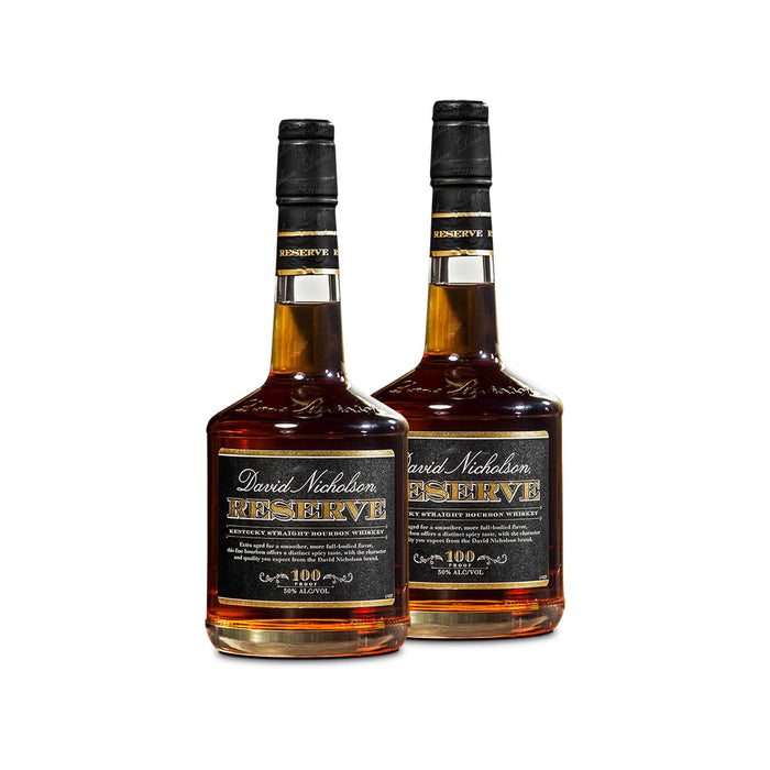 David Nicholson Reserve Bourbon Whiskey (2) Bottle Bundle