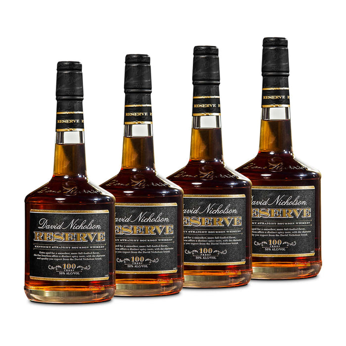 David Nicholson Reserve Bourbon Whiskey (4) Bottle Bundle