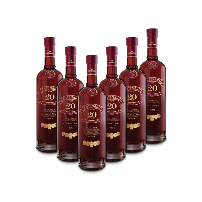 Ron Centenario 20 Fundacion Rum (6) Bottle Bundle