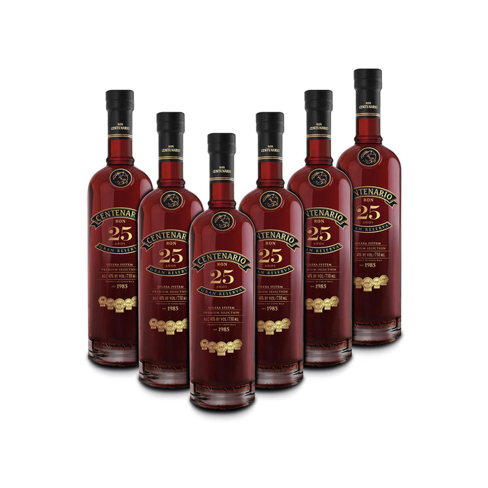 Ron Centenario 25 Gran Reserva Rum (6) Bottle Bundle