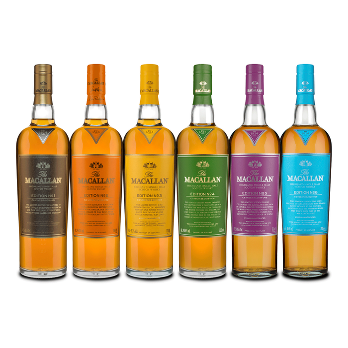 The Macallan Edition COMPLETE (6) Set Single Malt Scotch Whisky Collection