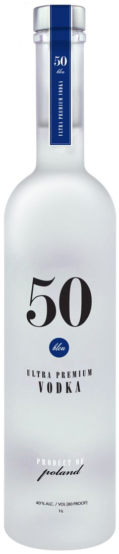 50 Bleu Ultra Premium Vodka 1L