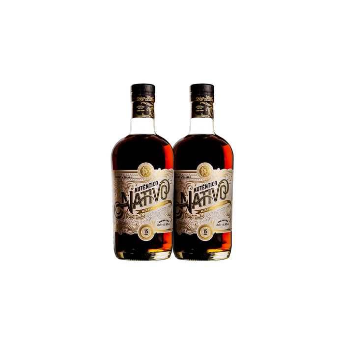 Auténtico Nativo 15 Year Old Special Reserve Rum (2) Bottle Bundle