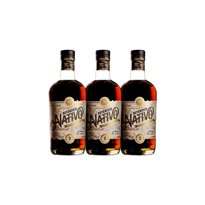 Auténtico Nativo 15 Year Old Special Reserve Rum (3) Bottle Bundle