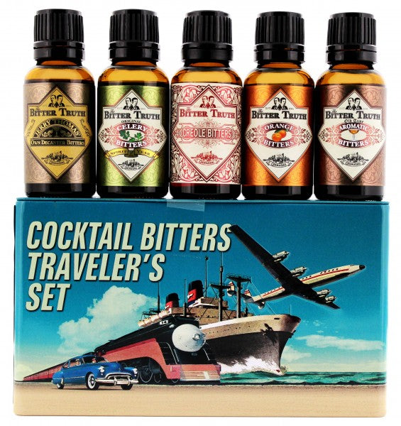 The Bitter Truth Cocktail Bitters Travel Gift Set (5) 20ml