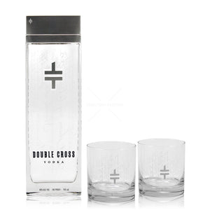 Double Cross Vodka 80 W/2 Rocks Glass - CaskCartel.com