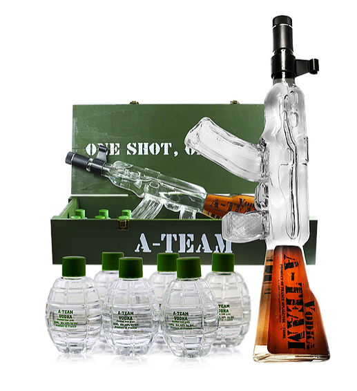 A-Team SWAT Vodka Box with Grenades