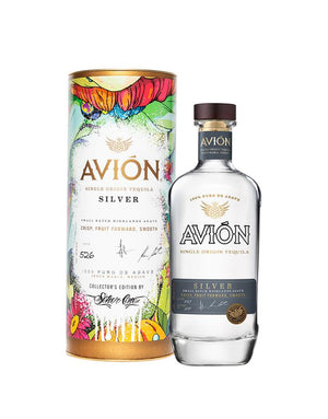 Avión Silver With Collector's Edition Canister Tequila - CaskCartel.com