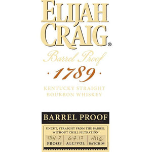 Elijah Craig Barrel Proof Batch No. A116 Kentucky Straight Bourbon Whiskey - CaskCartel.com