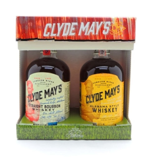 Clyde May's Bourbon Whiskey Gift Set (2) 375ml