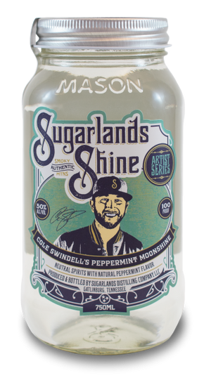 Sugarlands Shine Cole Swindell's Peppermint Moonshine - CaskCartel.com