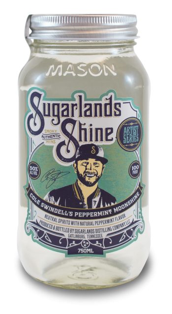Cole Swindell's Peppermint Moonshine Sugarlands Shine