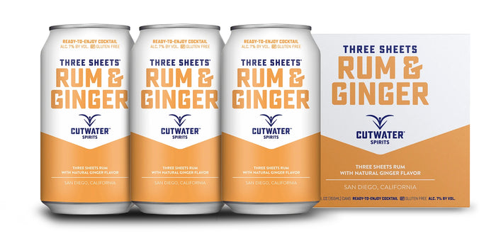 Cutwater | Three Sheets Rum & Ginger (4) Pack Cans