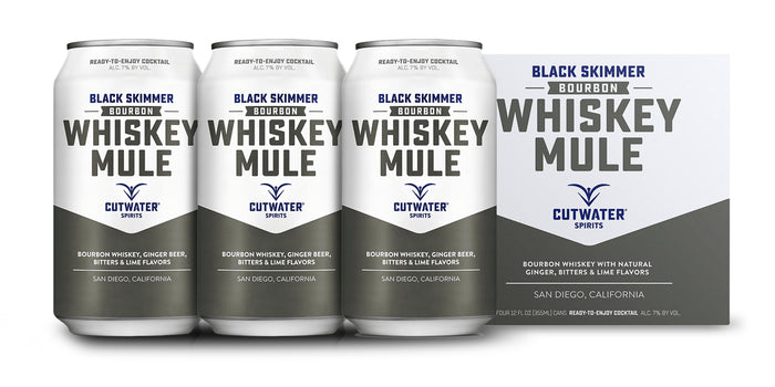 Cutwater | Black Skimmer Bourbon Whiskey Mule (4) Pack Cans