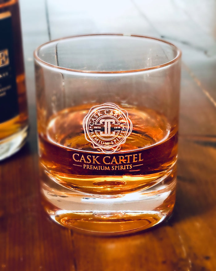 Cask Cartel | Limited Edition | Double Old Fashioned Rocks Glass Set of Two -11oz