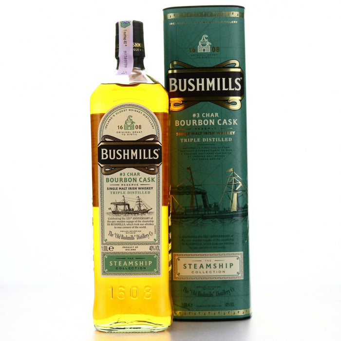 Bushmills Steamship #3 Char Bourbon Cask Single Malt Irish Whiskey