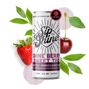 Sip Shine Shineberry Sweet Tea | 4-Pack 200ml at CaskCartel.com 2