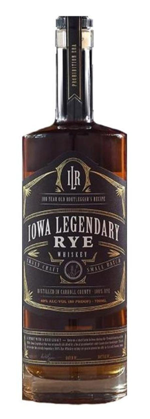 Iowa Legendary Rye Small Batch Whiskey (Black)