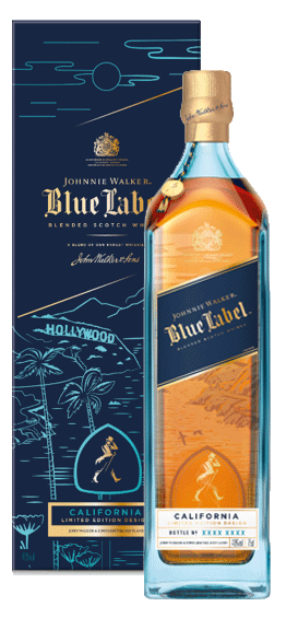 Johnnie Walker Blue Label California Limited Edition Design Blended Scotch Whisky - CaskCartel.com