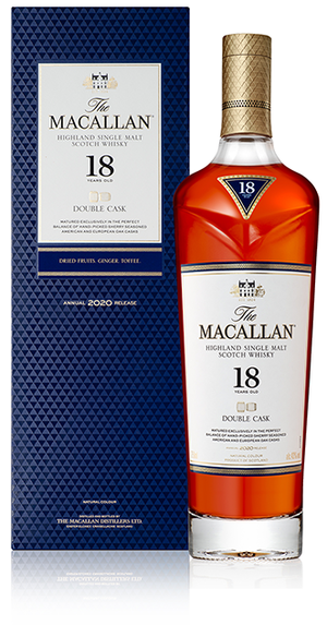 The Macallan Double Cask 18 Year Old Highland Single Malt Scotch Whisky at CaskCartel.com