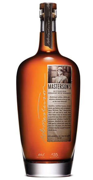 Masterson's 10 Year Old American Oak Rye Whisky at CaskCartel.com