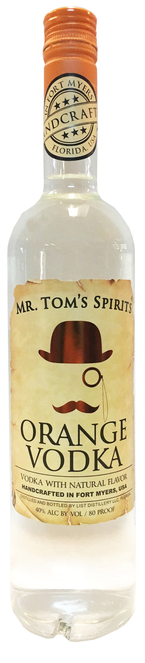 Mr. Tom's Spirits Orange Vodka - CaskCartel.com