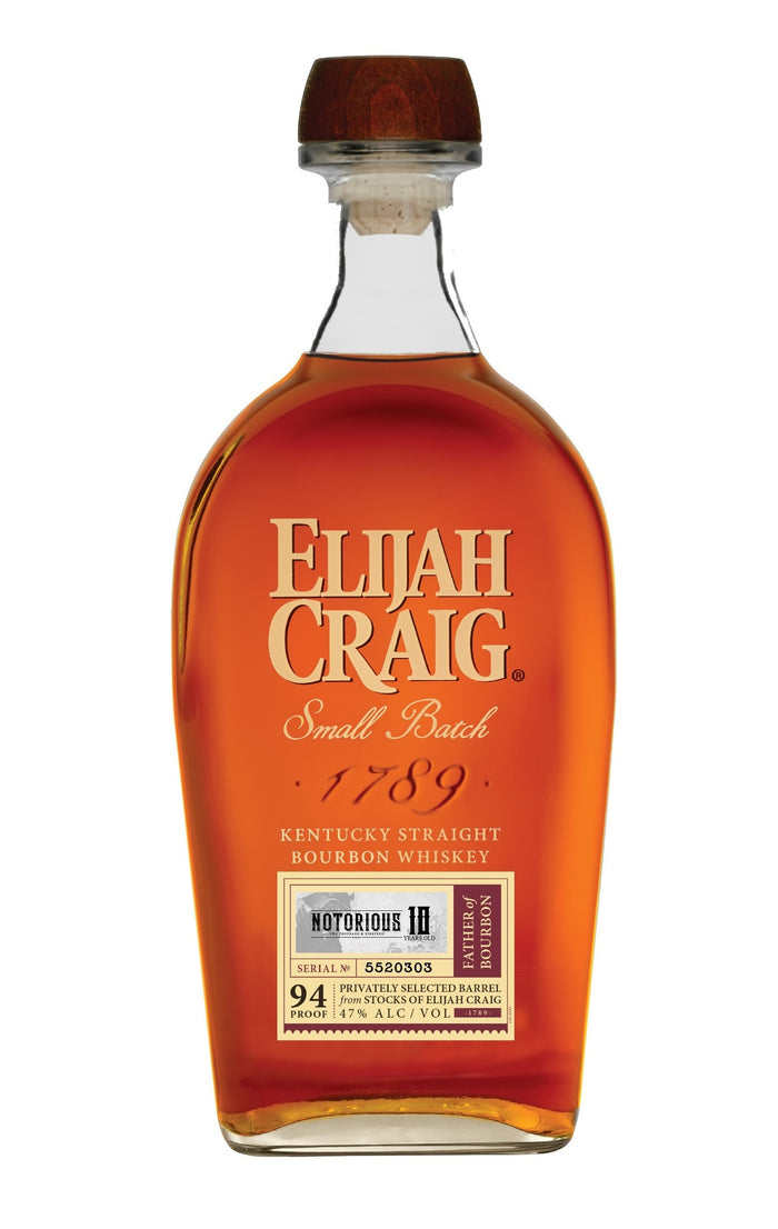 "Elijah Craig 10 Year Single Barrel ""NOTORIOUS 10"" Limited Release"